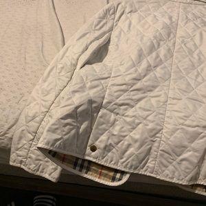 A women's Burberry white jacket